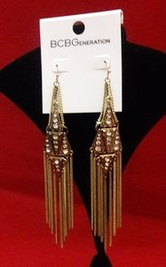 Drama Gold-Tone Fringe Earrings